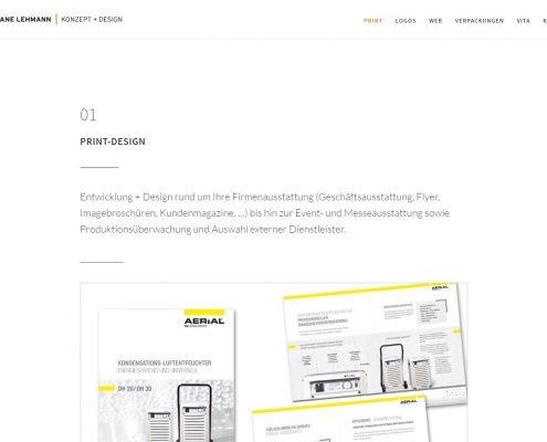 CL Konzept + Design: Inhaltsseite