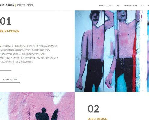 CL Konzept + Design: Textbereich der Homepage